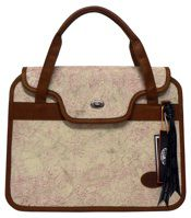 omar munie lappie bag flower pink 15 inch