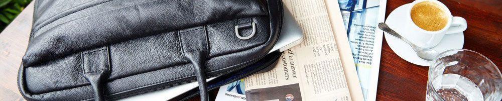 Heren laptoptassen en sleeves- Handtassen