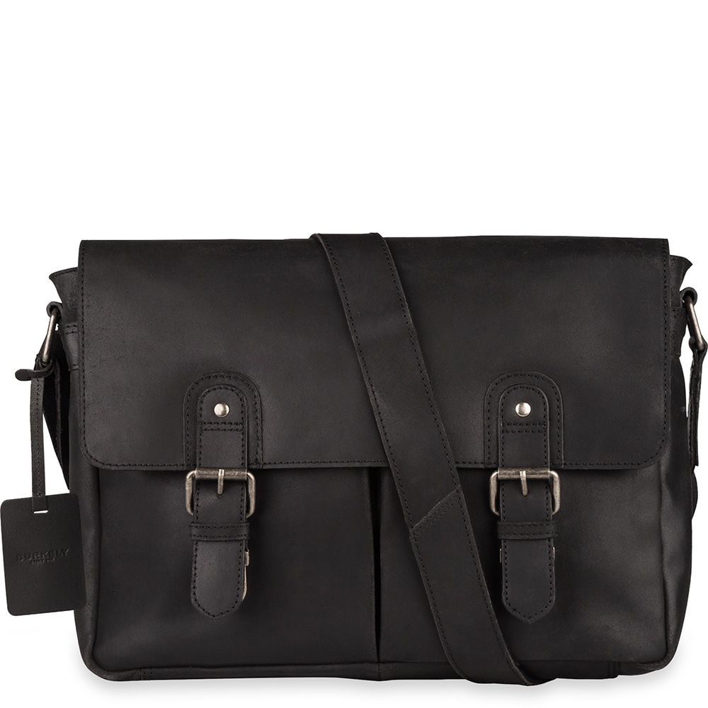 Laptoptas Burkely Glenn Vintage Shoulderbag Classic Black 14 inch