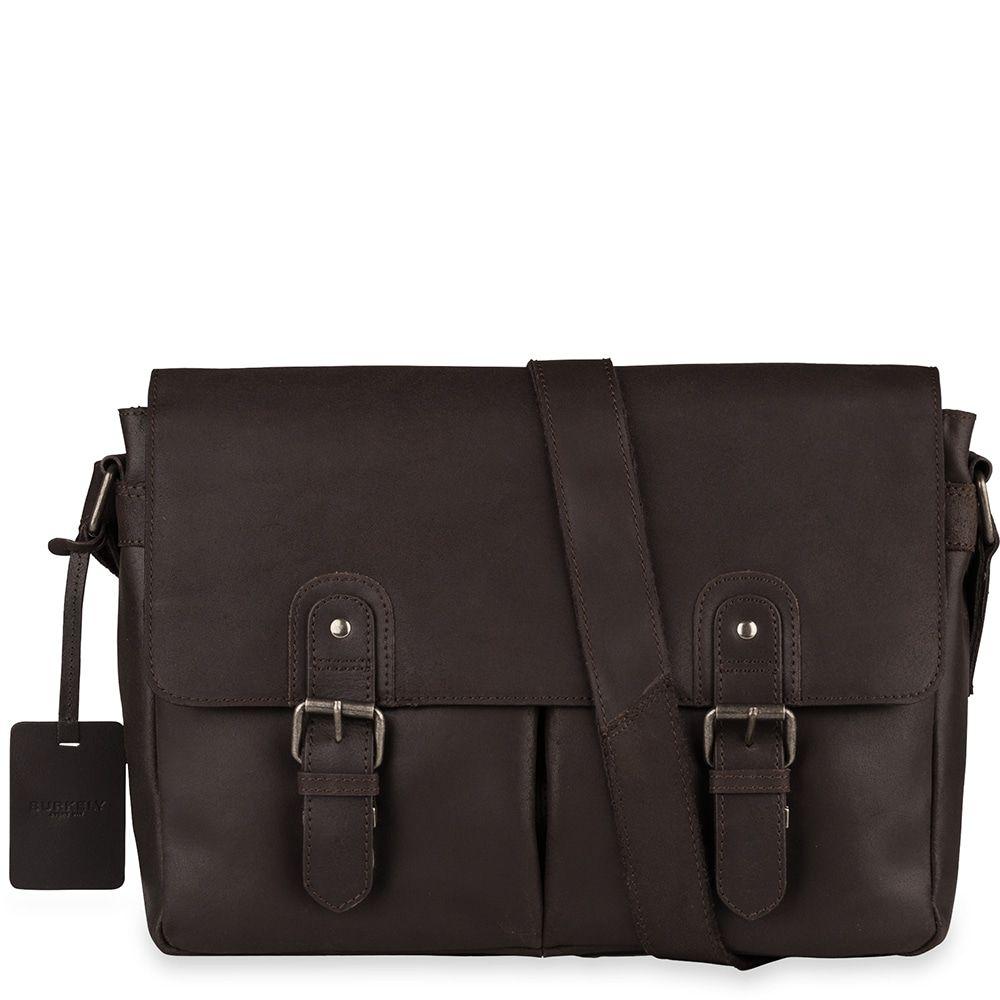 Laptoptas Burkely Glenn Vintage Shoulderbag Classic Brown 14 inch