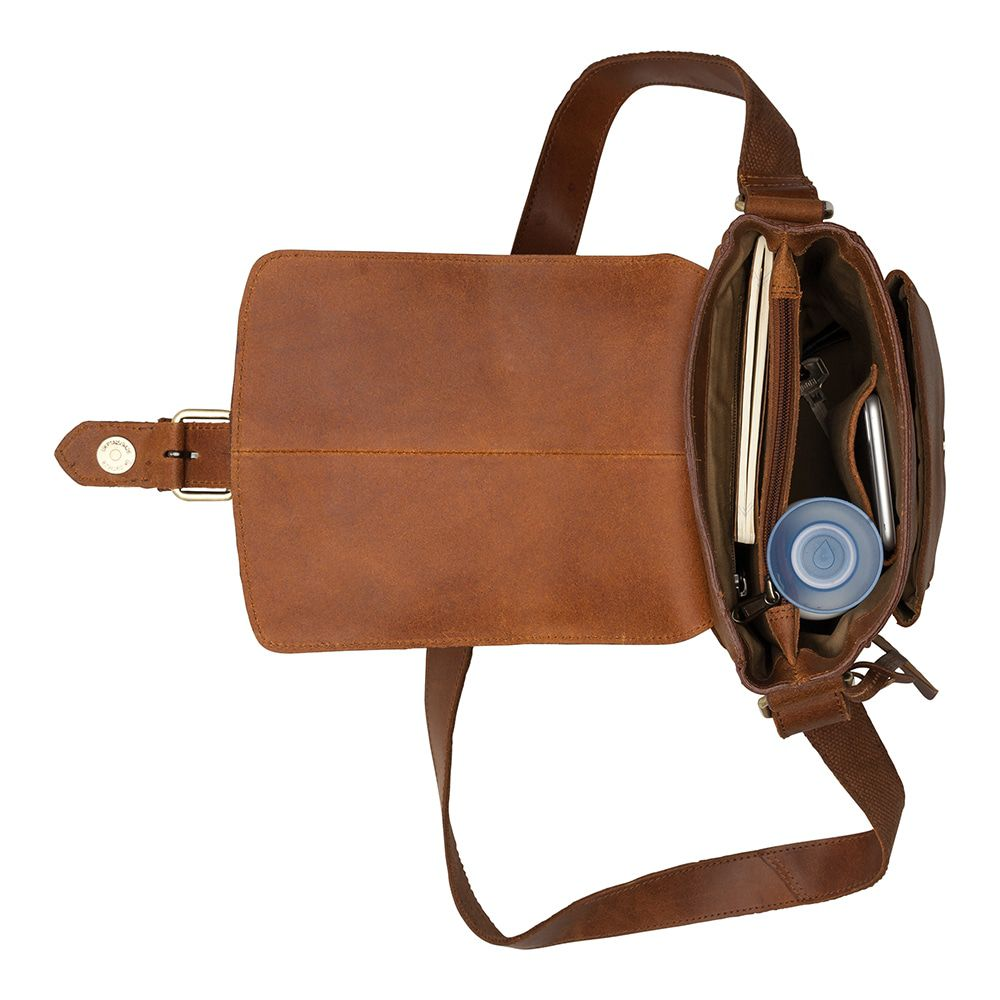 Burkely Vintage Luke Cross Over Shoulderbag Cognac