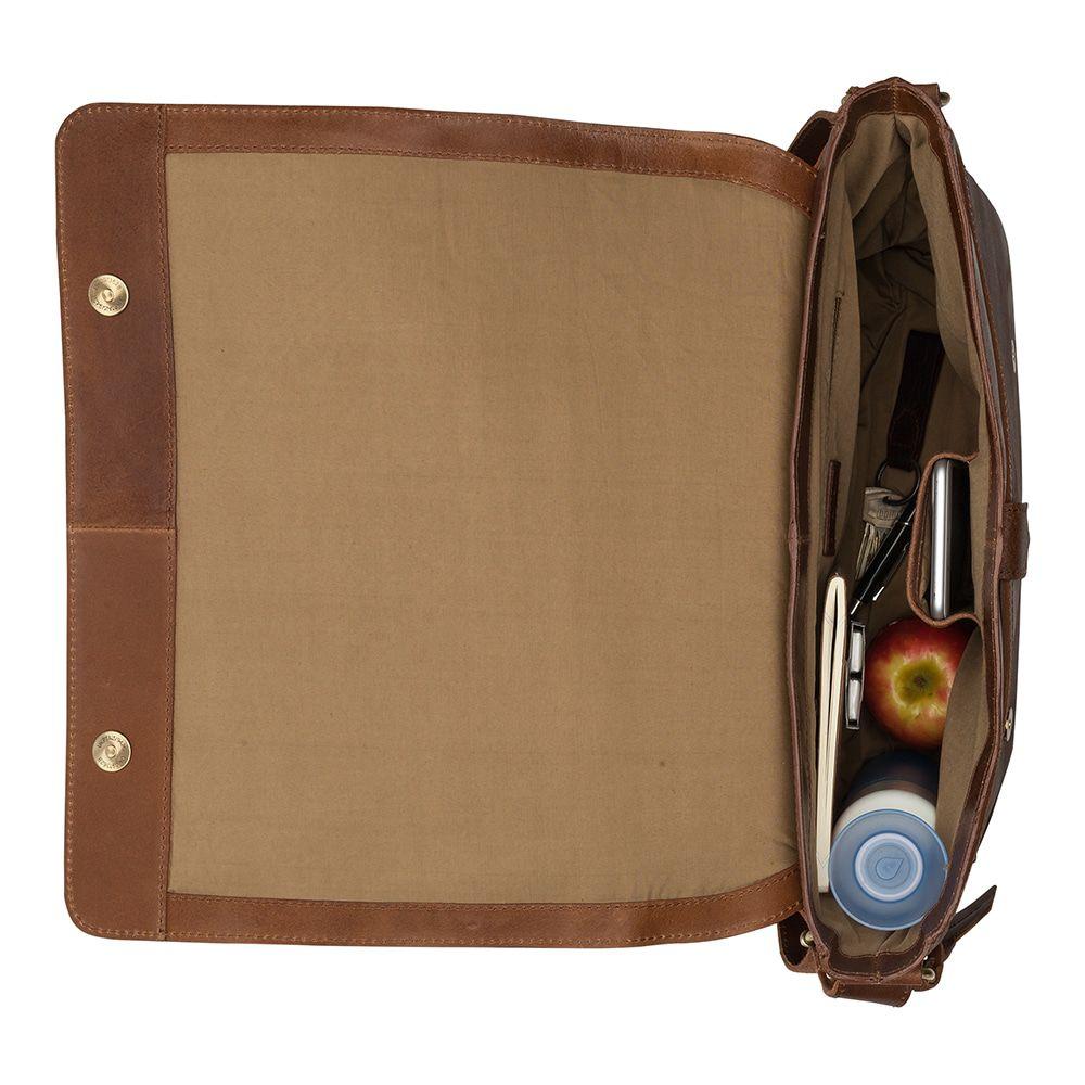 Laptoptas Burkely Juul Vintage Messenger Cognac 14 inch
