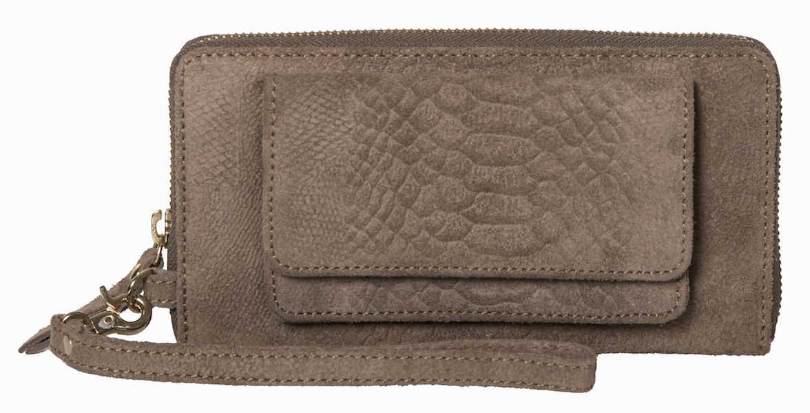 iPhone hoesje Burkely Anaconda portemonnee & iPhone wallet Taupe