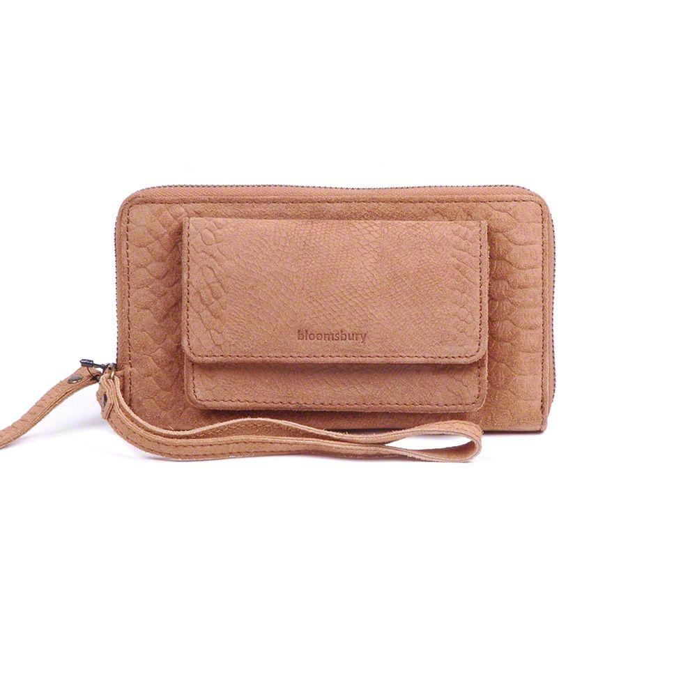 iPhone hoesje Burkely Anaconda portemonnee & iPhone wallet Camel