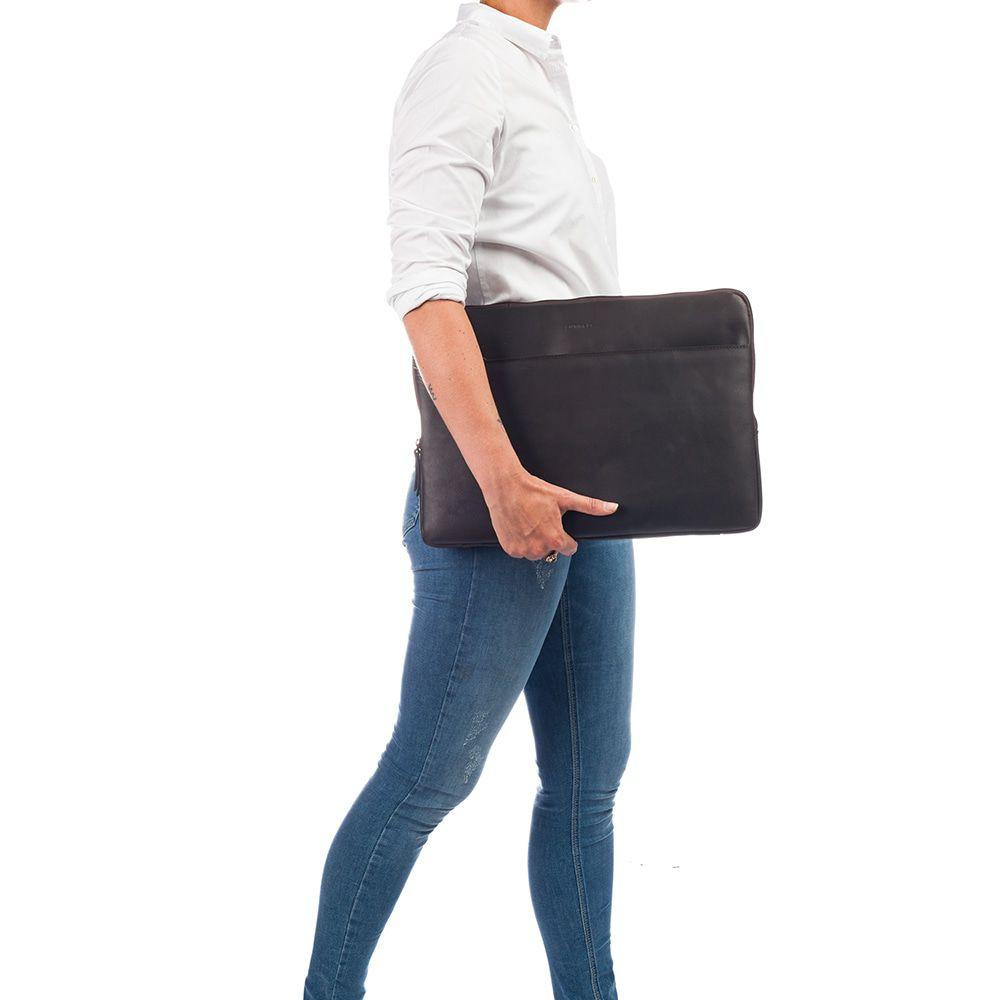 Burkely Leren Laptop Sleeve 15.6 inch Fundamentals Vintage Josh Bruin