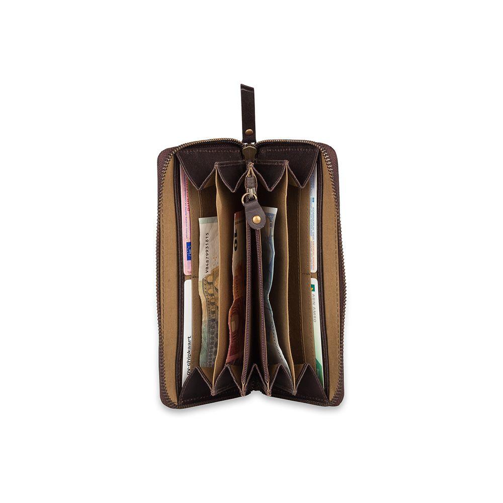 Burkely Leren Portemonnee Fundamentals Vintage Charly Bruin