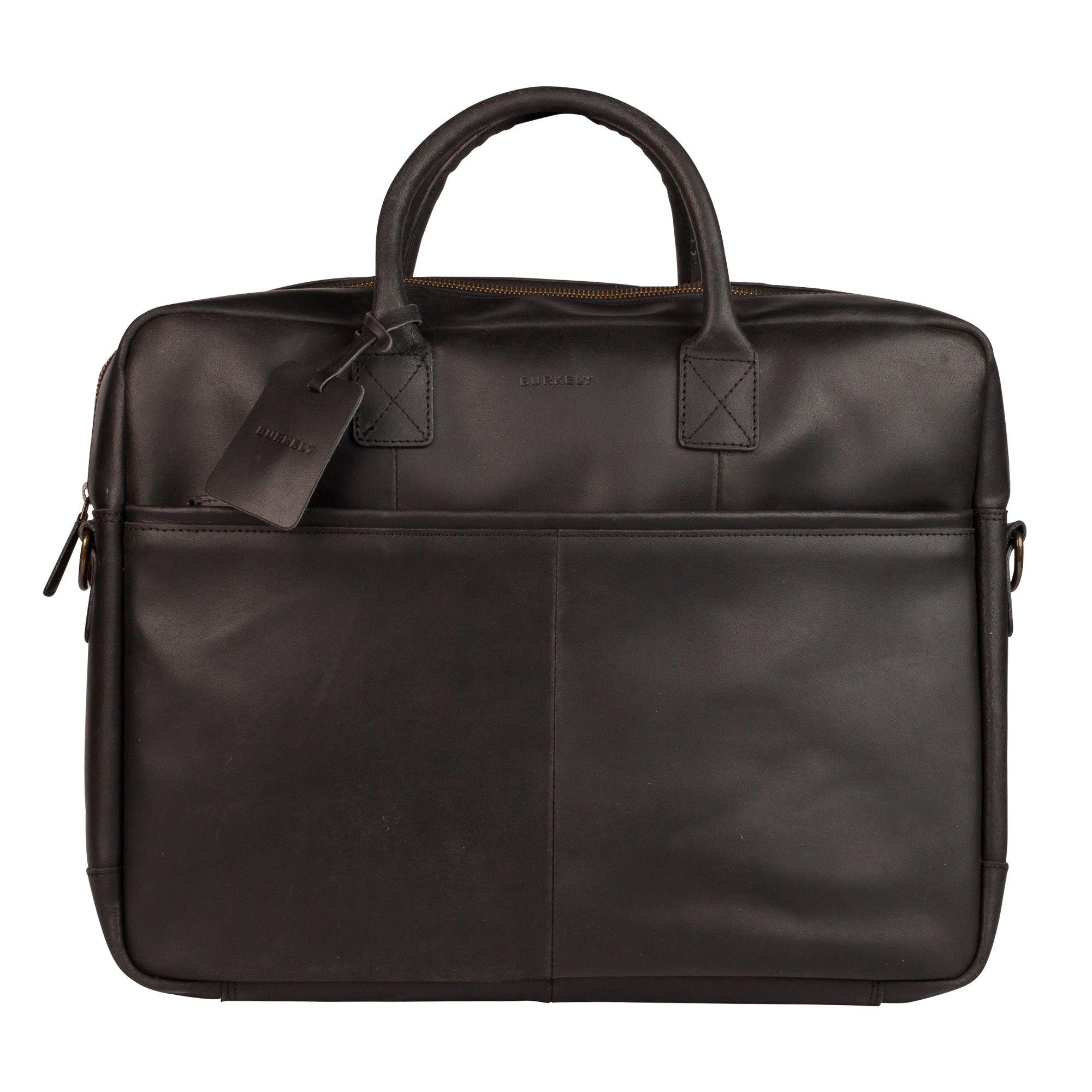 Laptoptas Burkely Max Vintage Business Shoulderbag Black 17 inch