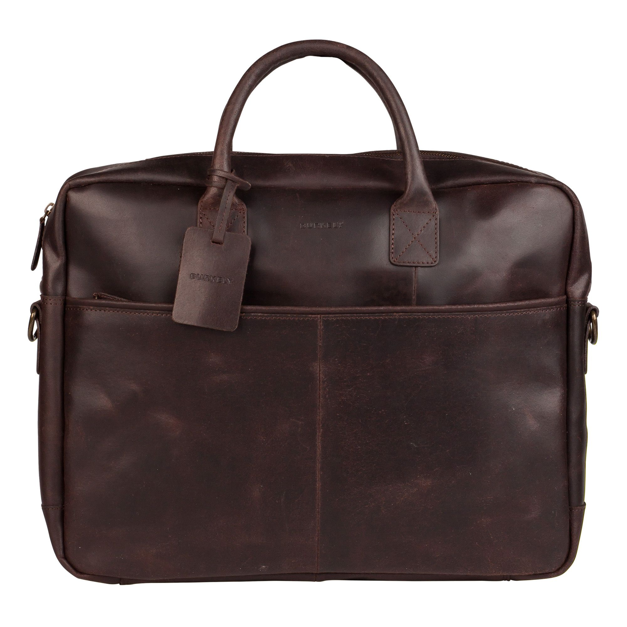 Laptoptas Burkely Max Vintage Business Shoulderbag Dark Brown 17 inch