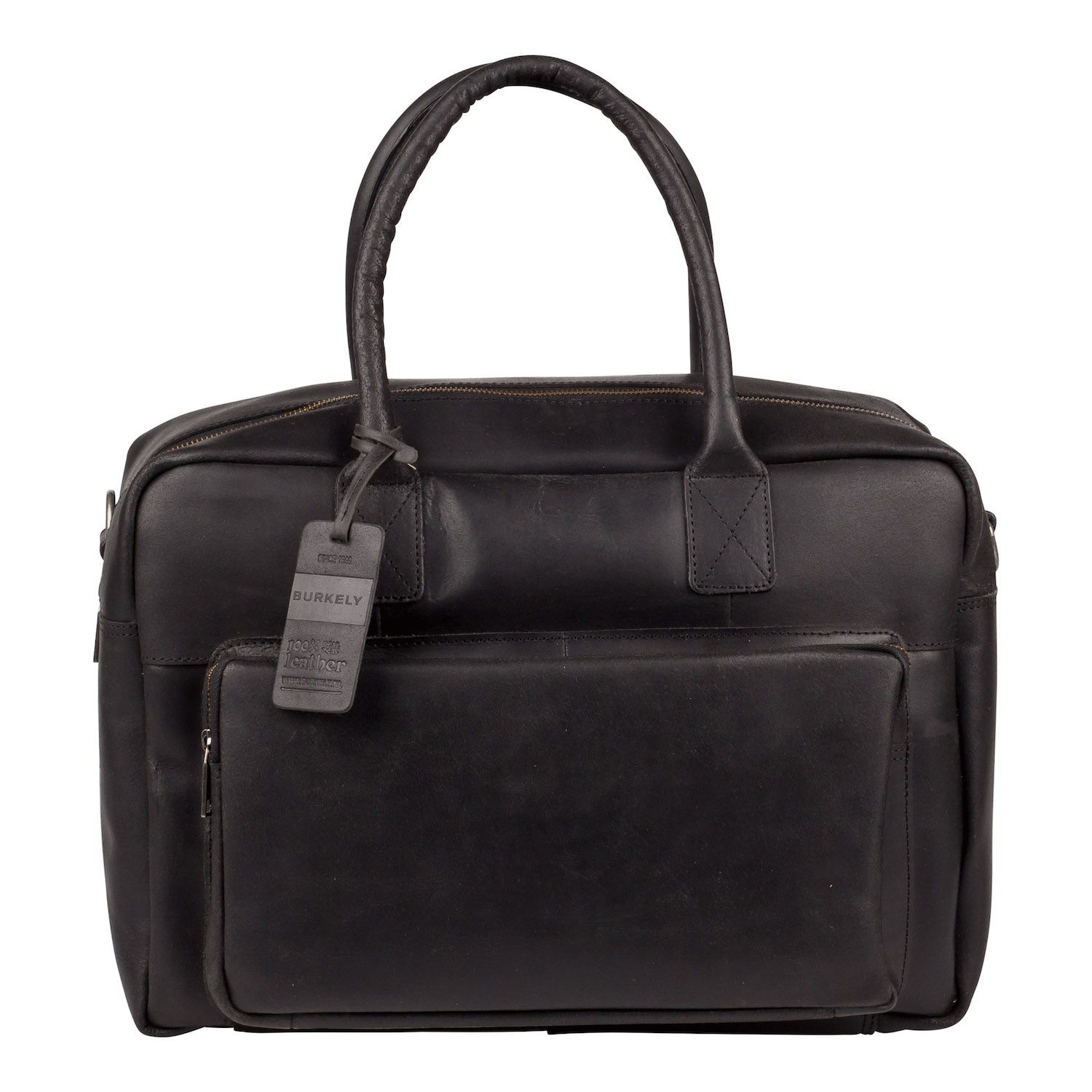 Laptoptas Burkely Mitch Vintage Businessbag Black 14 inch