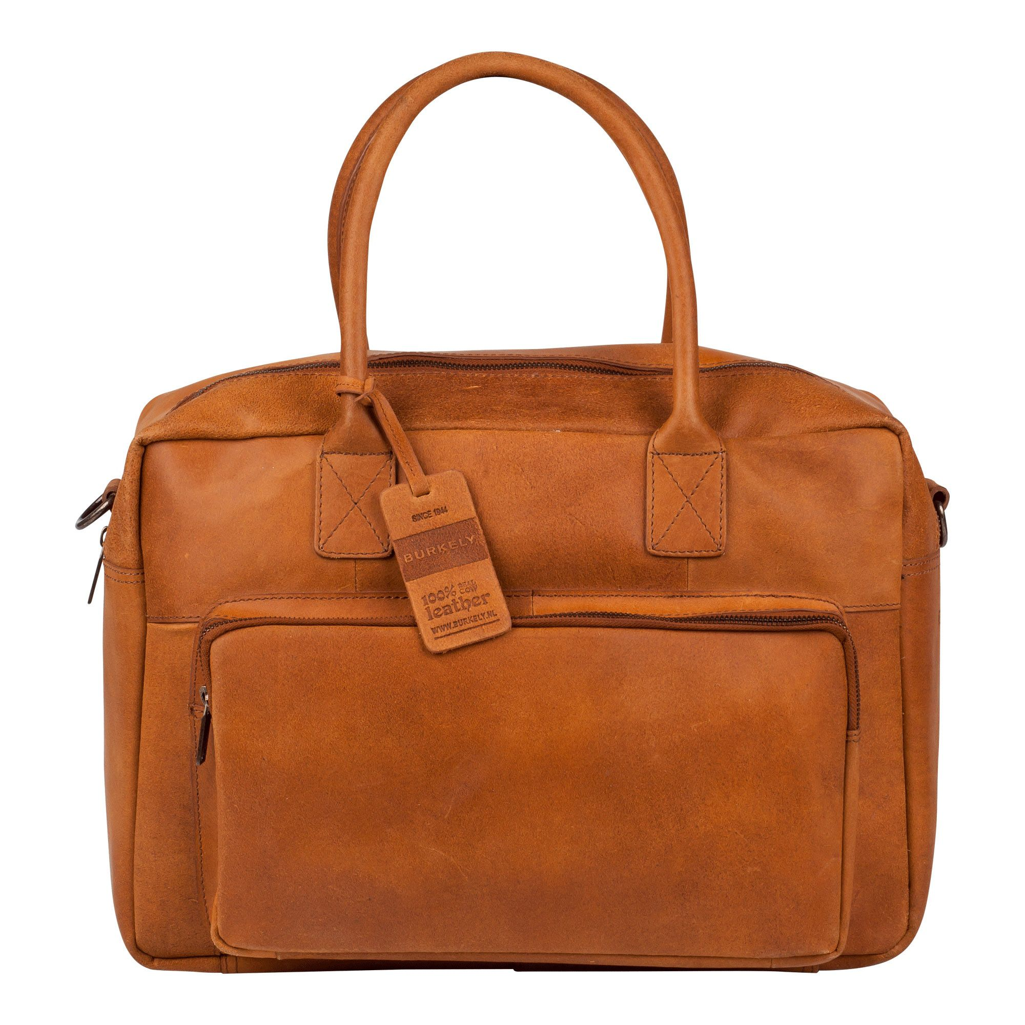 Laptoptas Burkely Mitch Vintage Businessbag Cognac 14 inch