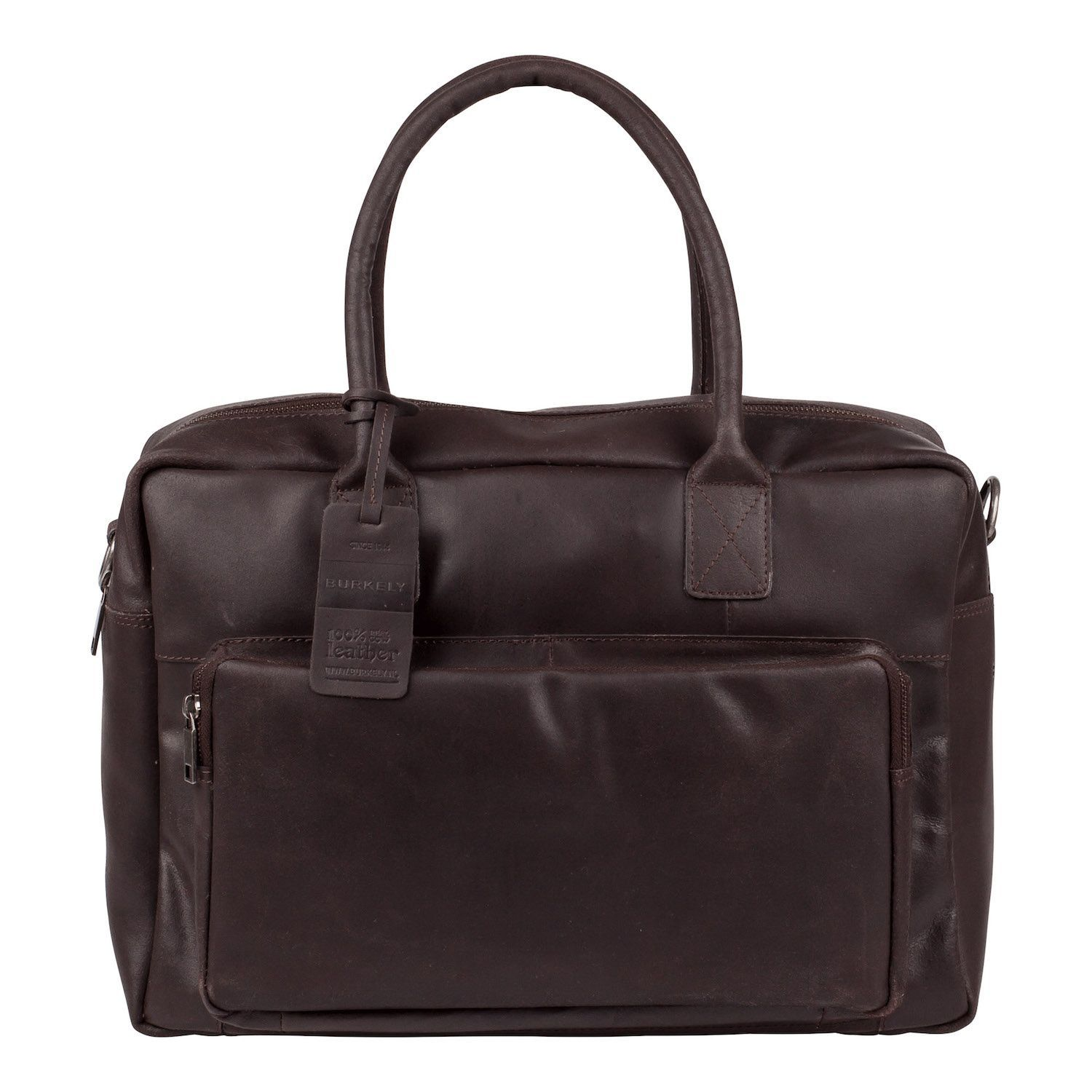 Laptoptas Burkely Mitch Vintage Businessbag Dark Brown 14 inch