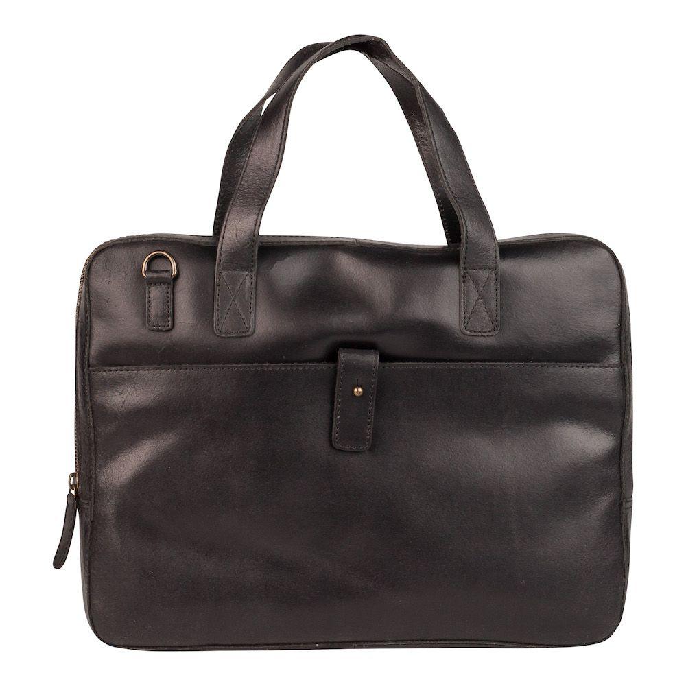 Laptoptas Burkely Noa Vintage Businessbag Slim Black 14 inch