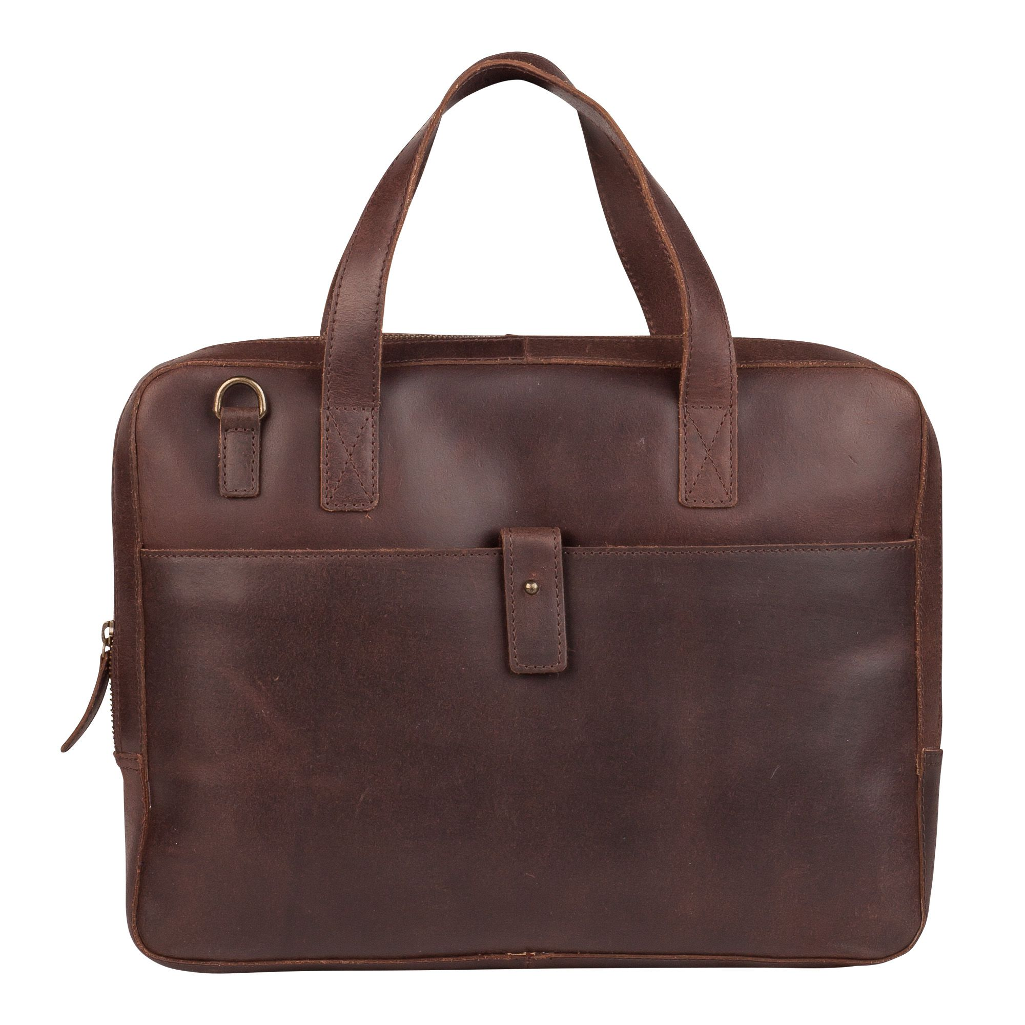 Laptoptas Burkely Noa Vintage Businessbag Slim Dark Brown 14 inch