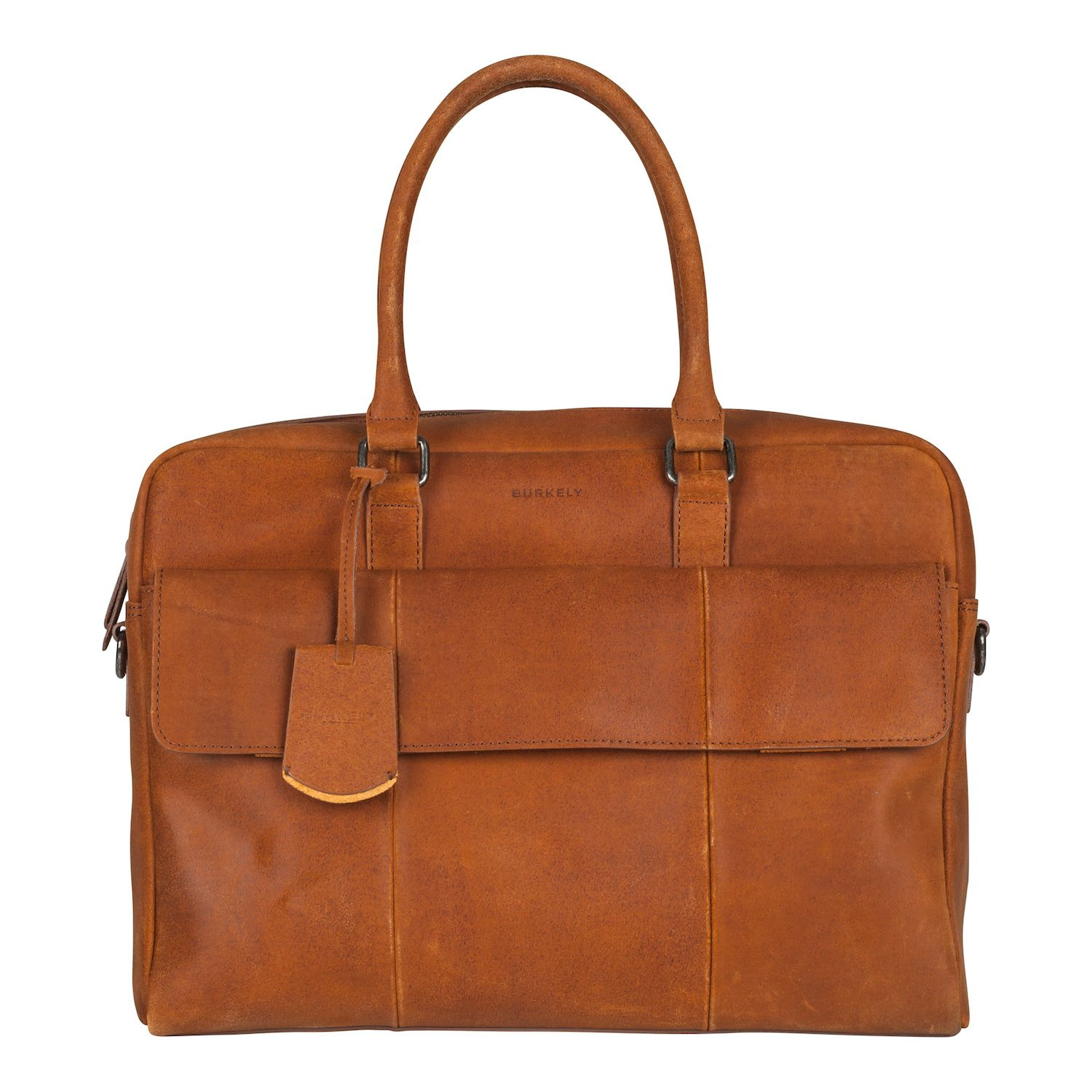 Burkely On The Move Laptopbag Flap Cognac 15 inch