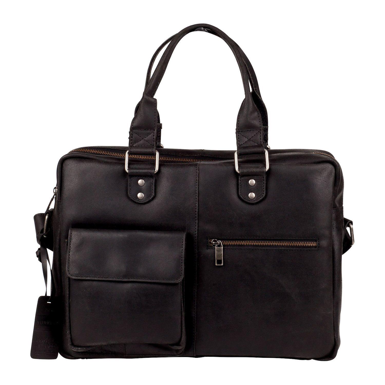 Laptoptas Burkely Quinn Vintage Business Shoulderbag Black 14 inch