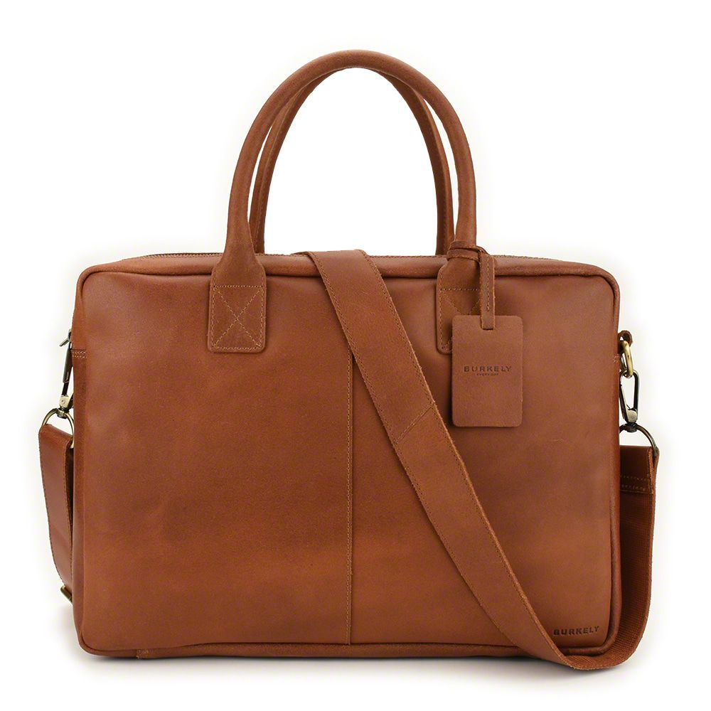 Laptoptas Burkely Taylor Business Vintage Shoulderbag Cognac 17 inch