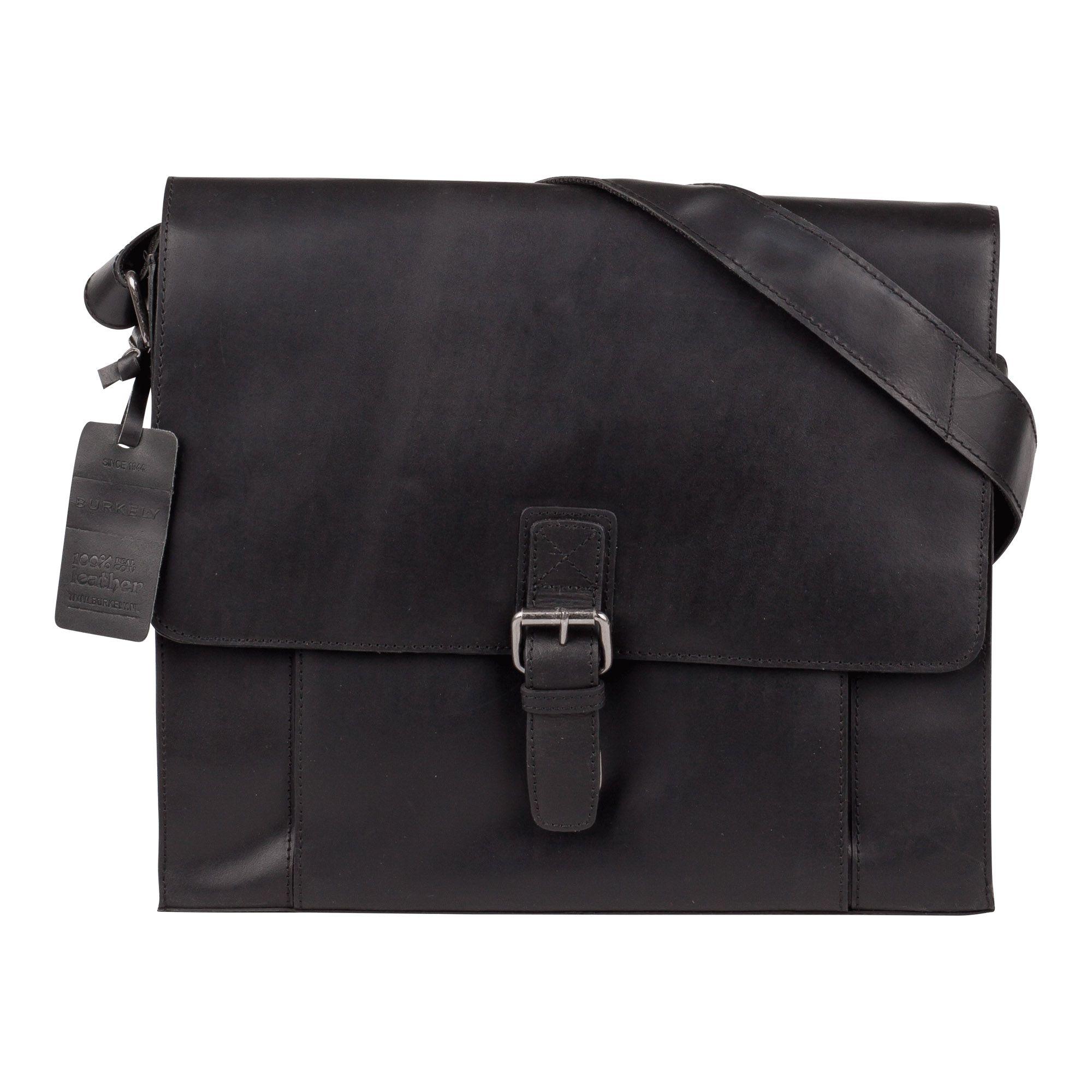Burkely Mick Vintage Shoulderbag Black 13 inch