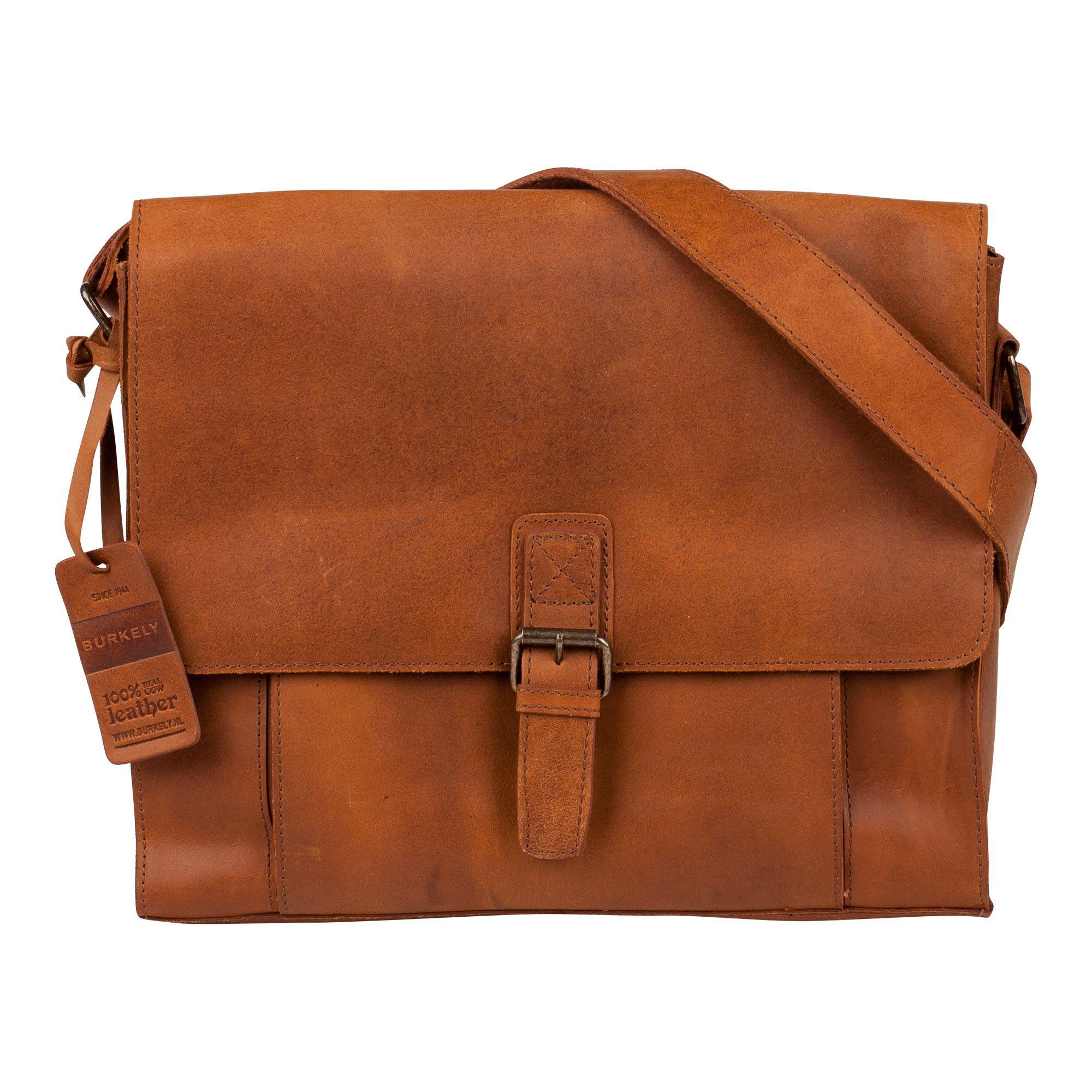 Laptoptas Burkely Mick Vintage Shoulderbag Cognac 13 inch