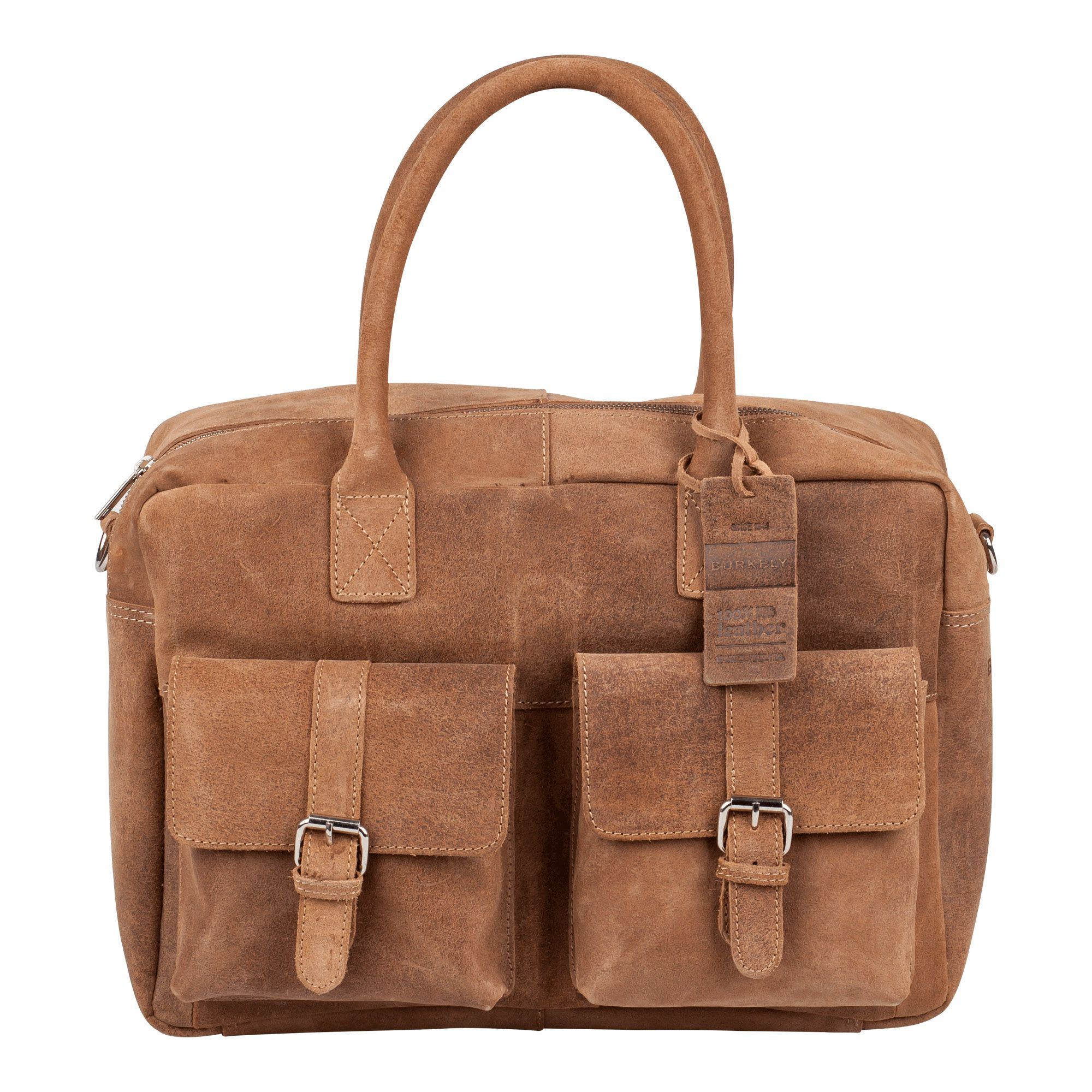 Laptoptas Burkely Finn Vintage Businessbag Classic Taupe 14 inch