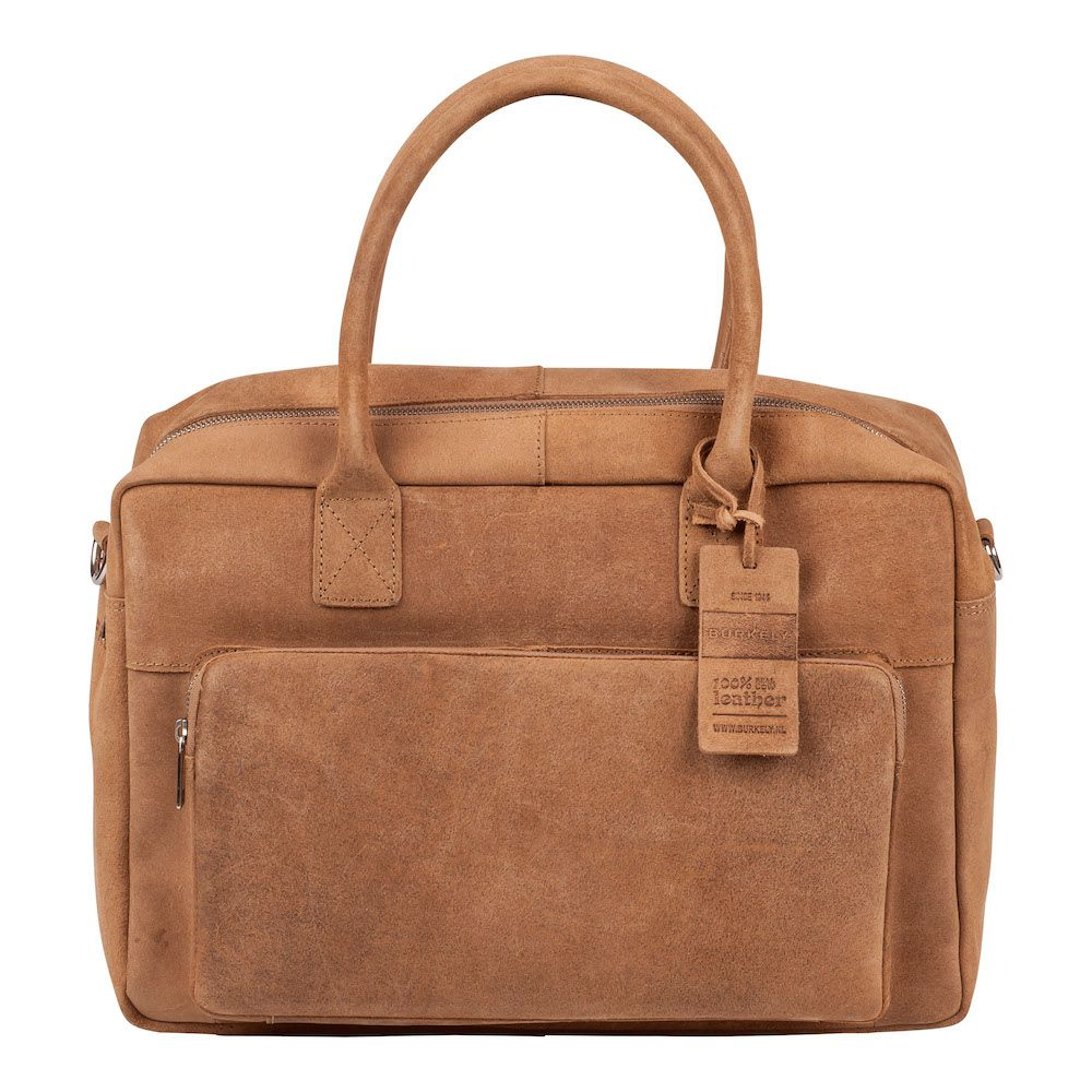 Laptoptas Burkely Mitch Vintage Businessbag Taupe 14 inch