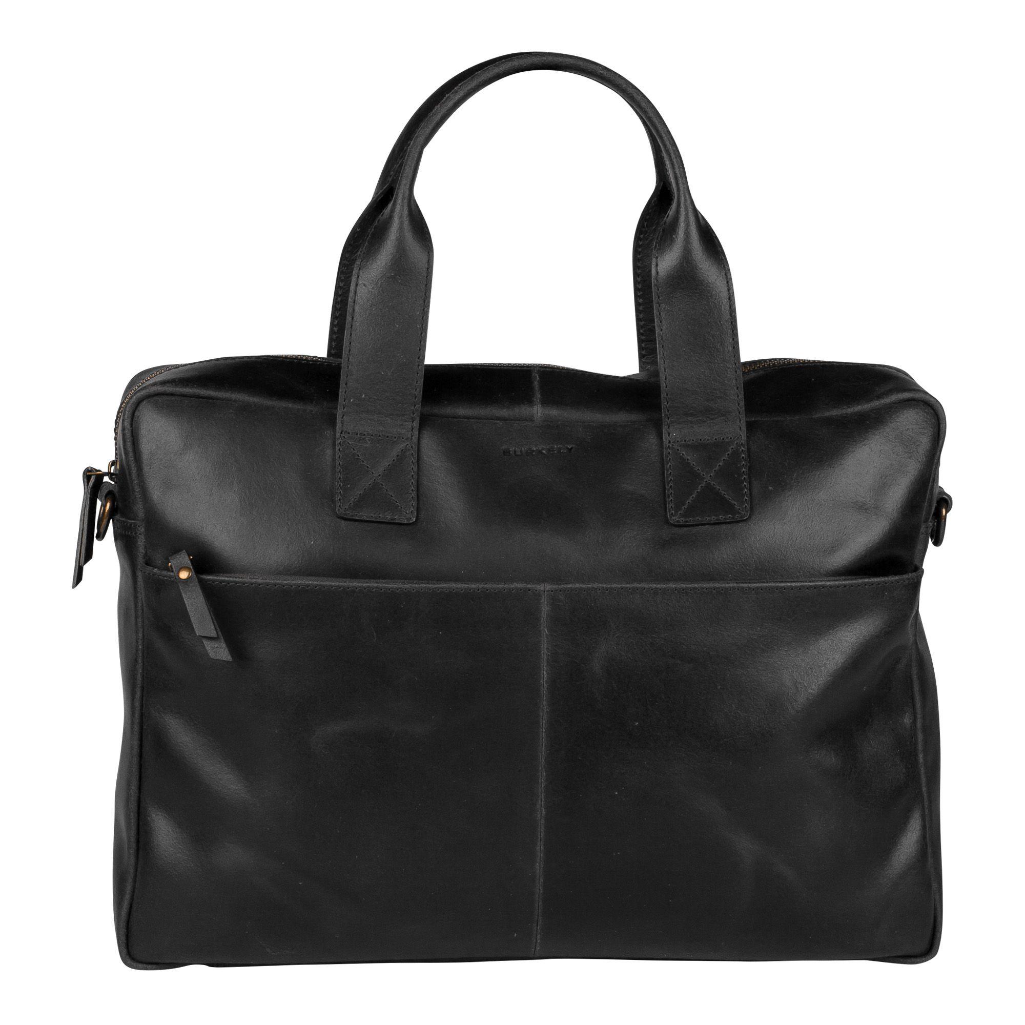 Burkely River Vintage Business Shoulderbag Black 15 inch