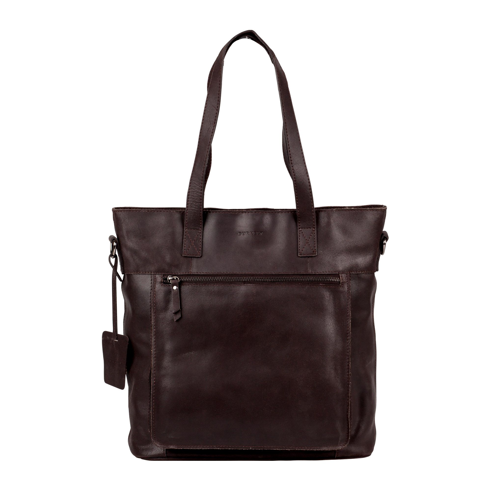 Laptoptas Burkely Jade Vintage Shopper Dark Brown 12 inch