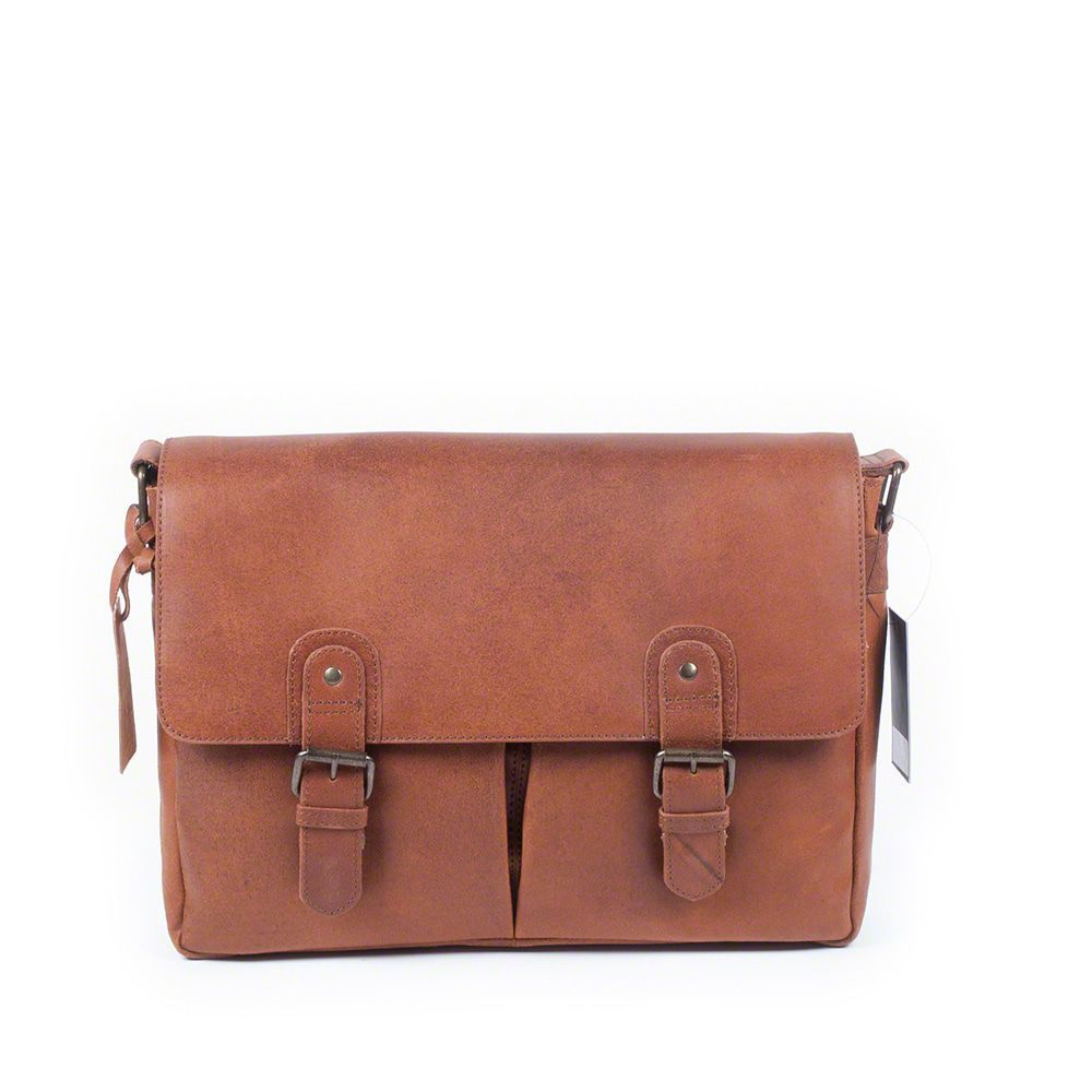 Laptoptas Burkely Glenn Vintage Shoulderbag Classic Cognac 14 inch