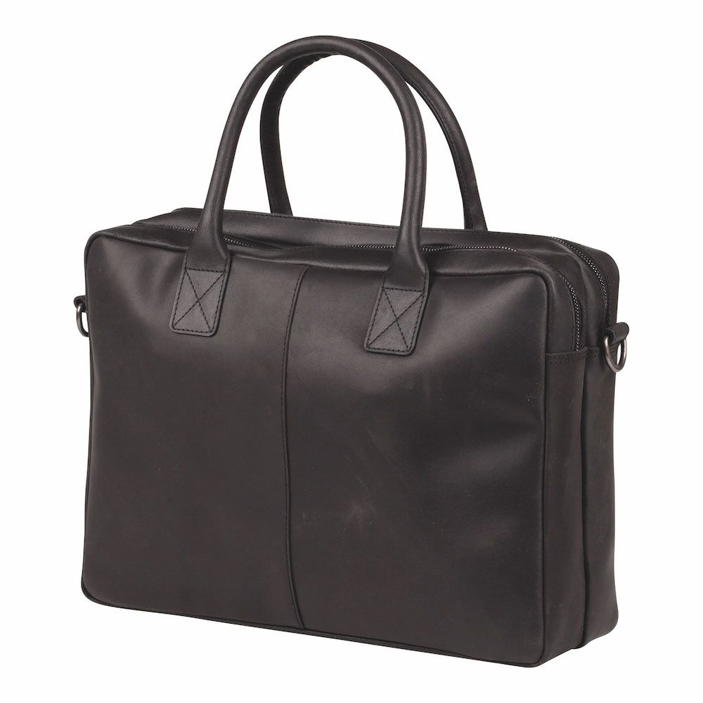 Laptoptas Burkely Taylor Business Vintage Shoulderbag Black 17 inch
