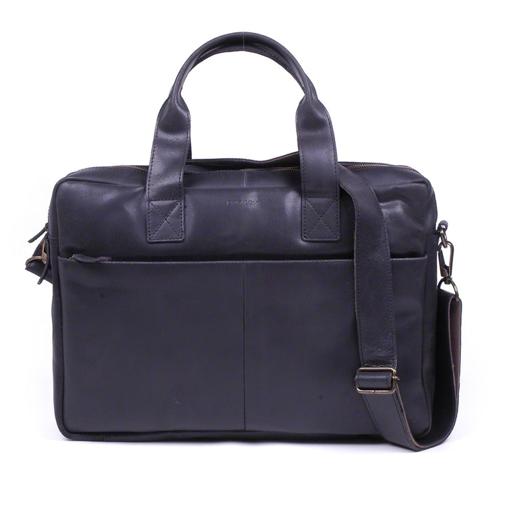 Laptoptas Burkely Jesse Vintage Shoulderbag Black 13 inch