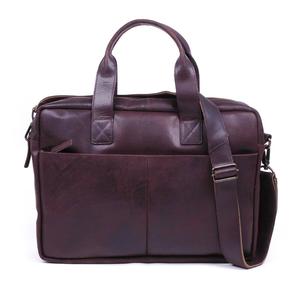 Laptoptas Burkely Jesse Vintage Shoulderbag Dark Brown 13 inch