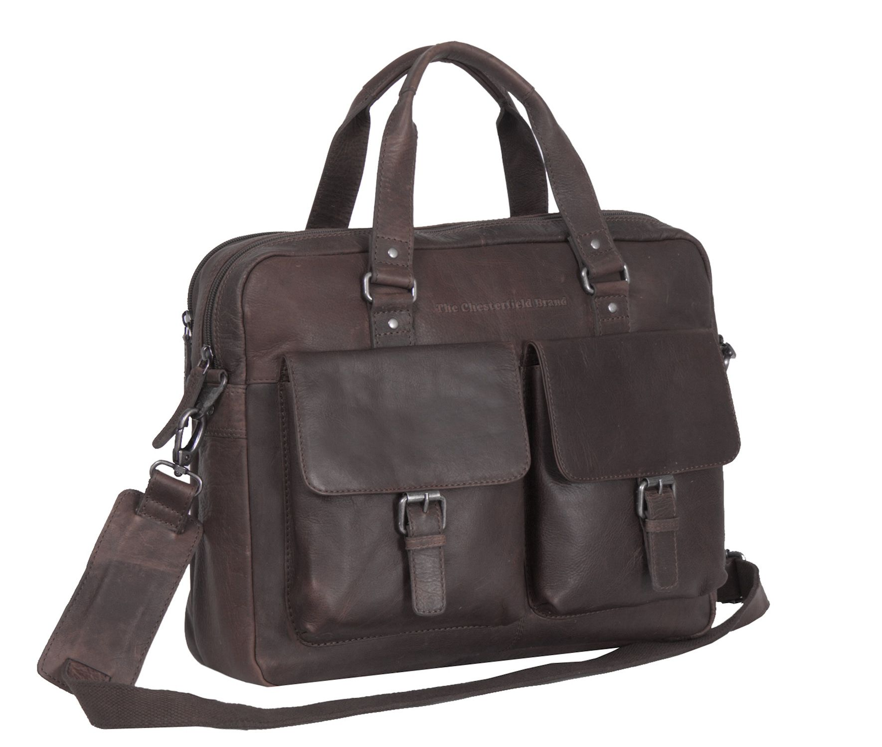 Chesterfield Dylan Businessbag Brown 17 inch