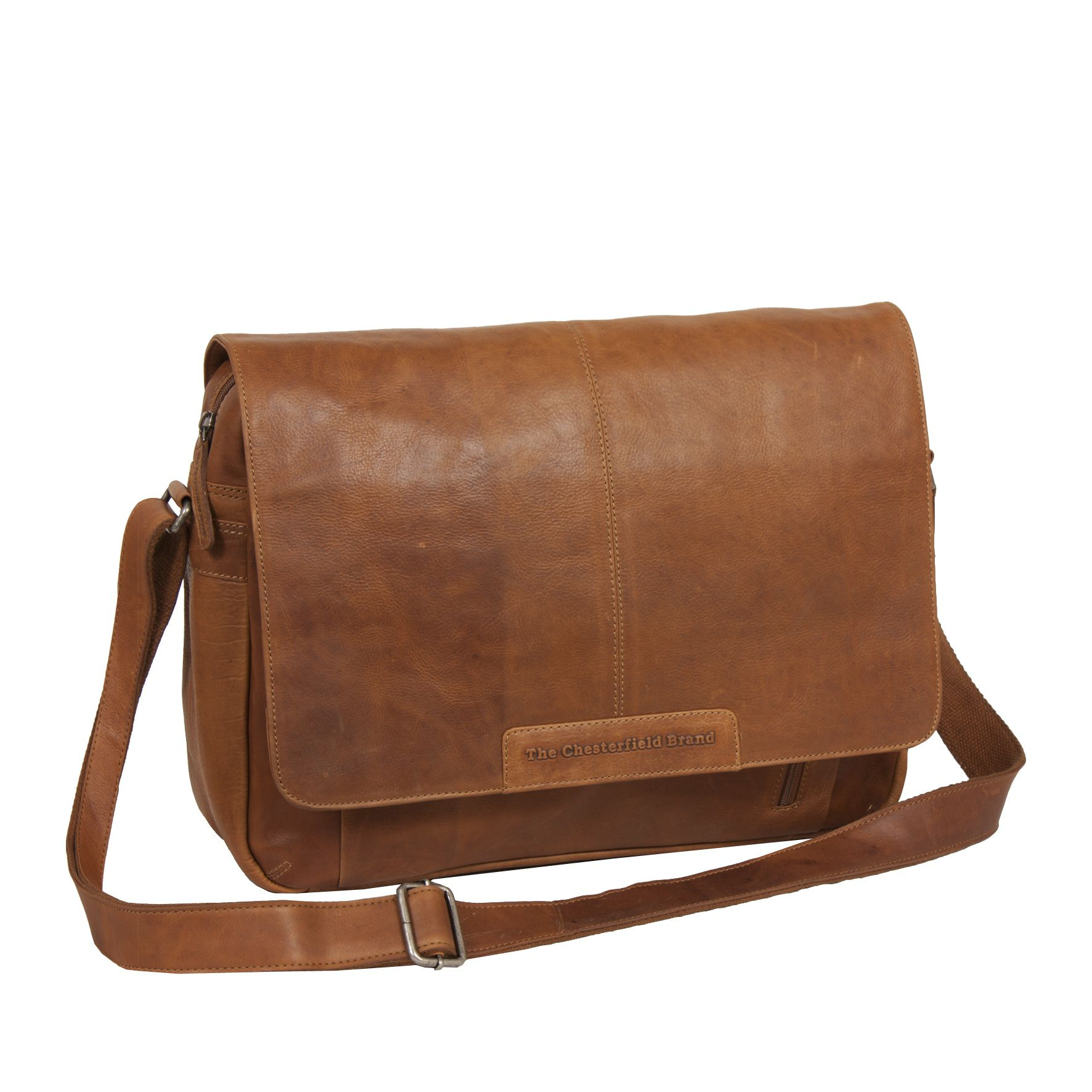 Chesterfield George Casual Messenger Cognac 15.6 inch
