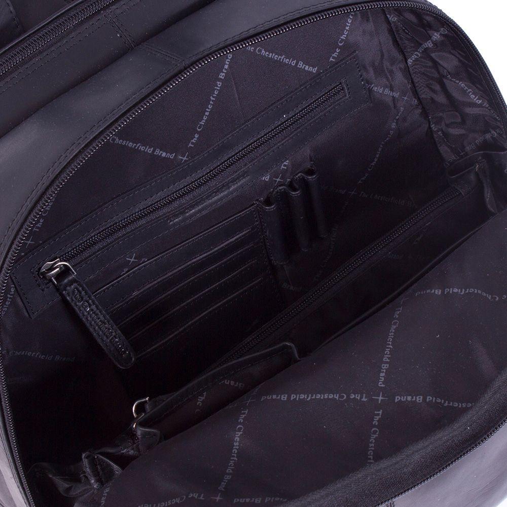 Chesterfield Leren Laptop Rugtas 15 inch Dex Zwart