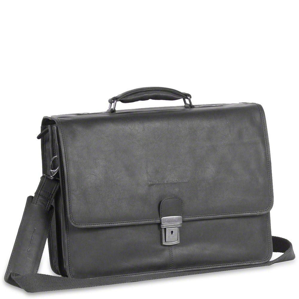 Chesterfield Leren Laptoptas Aktetas 15.6 inch Shay Zwart