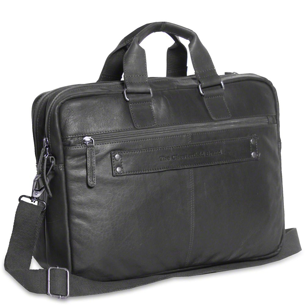 Laptoptas Chesterfield Leren Laptoptas 15 inch Seth Zwart