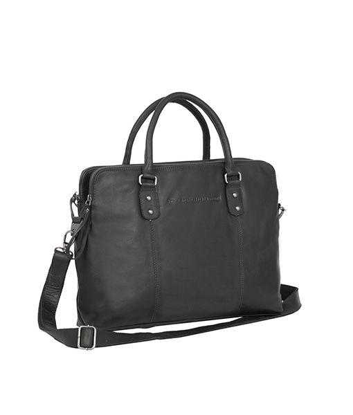Laptoptas Chesterfield Maria 3-vaks Shoulderbag Black 15 inch