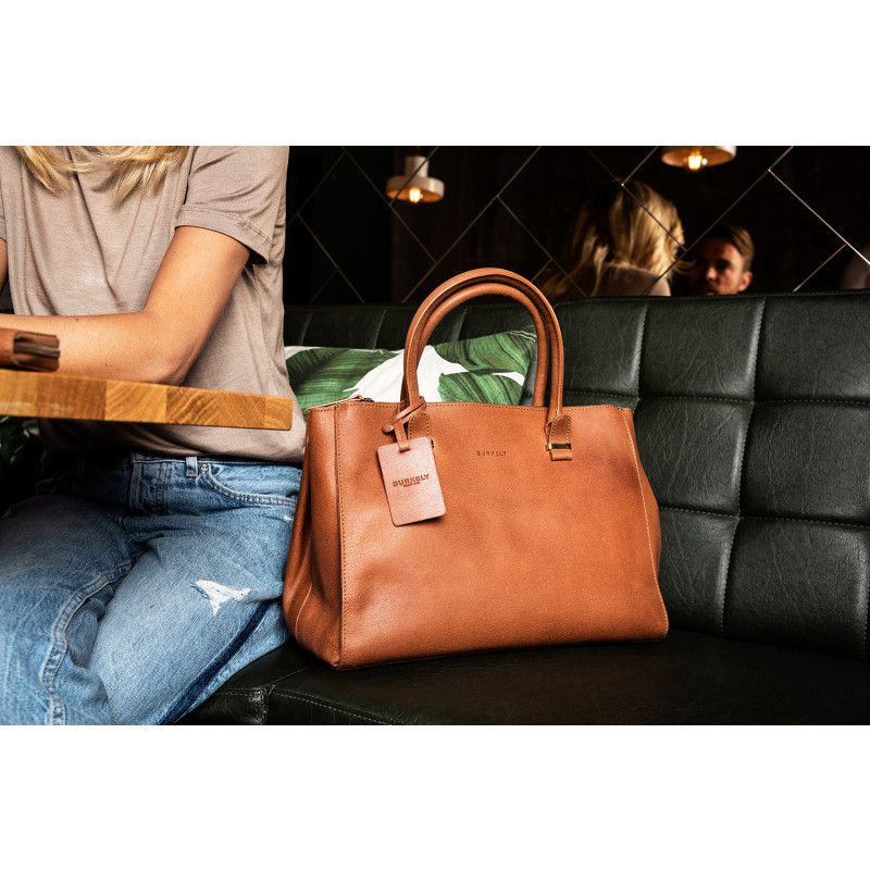 aa9498981bb Burkely Leren Handtas Fundamentals Vintage Wieske 2 Zipper Cognac Lifestyle