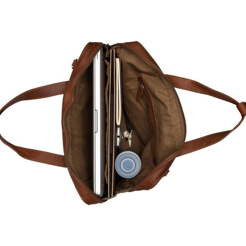01c71b67920 Burkely Leren Laptoptas 14 inch Fundamentals Vintage Noa Little Worker  Cognac Open