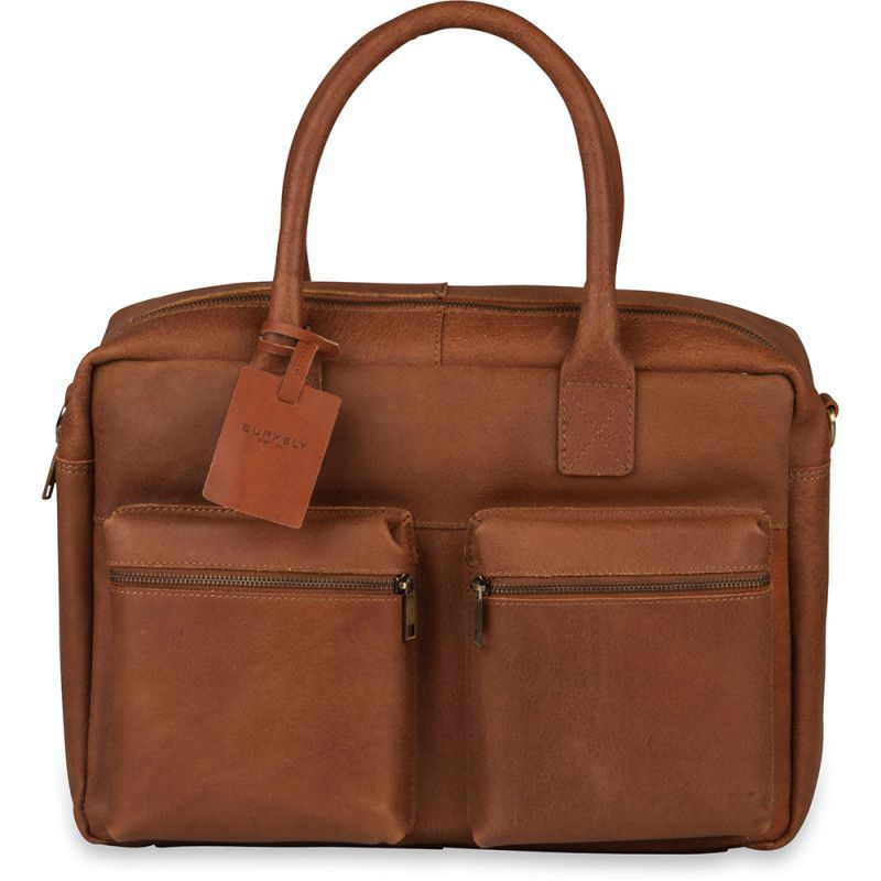 7807e9c6ee9 Burkely Leren Laptoptas 15 inch Fundamentals Vintage Alex Worker Cognac