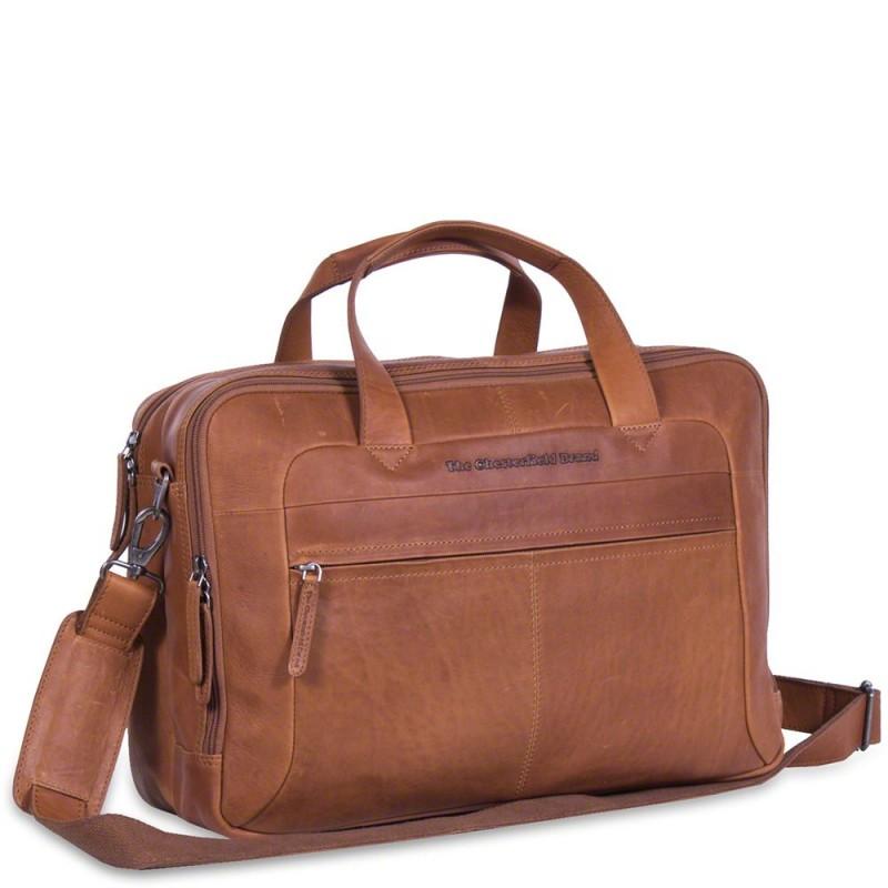3596a869e8c Chesterfield Heren Laptoptas 17 inch Ryan Cognac