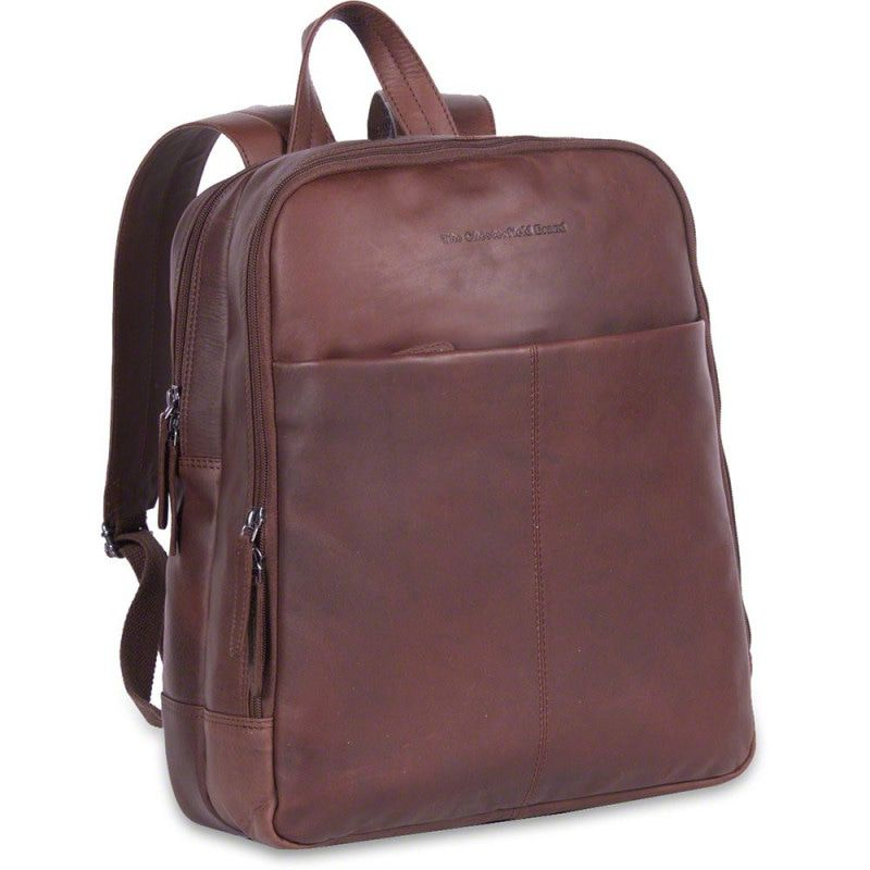 2a0cd76e5d5 Chesterfield Leren Laptop Rugtas 15 inch Dex Bruin