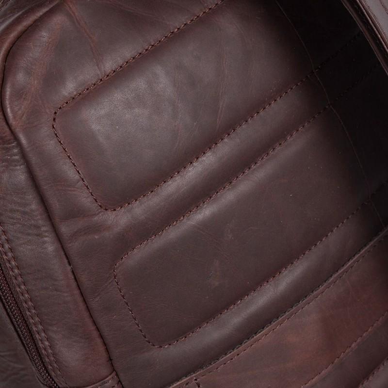 1d57fda2a3b Chesterfield Leren Laptop Rugtas 15 inch Dex Bruin Detail