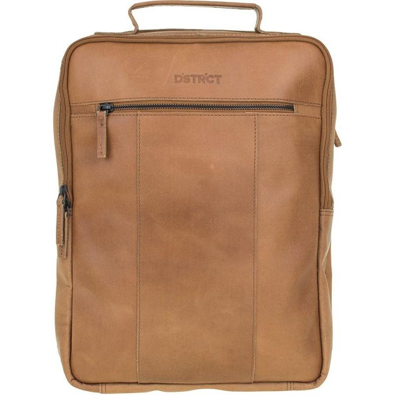 e3ea55ebe7a DSTRCT Leren Laptop Rugzak 15 inch River Side Cognac