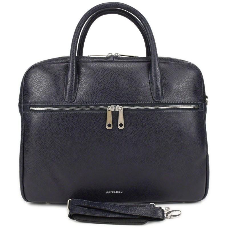 24b64f3a930 Gigi Fratelli Dames Leren Laptoptas 15 inch Romance Business ROM8002 Blauw
