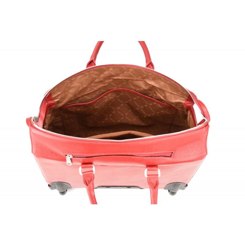 806a2a3d7b6 Gigi Fratelli Dames Leren Laptop Trolley 15.6 inch Romance Business ROM8015  Rood Binnenkant