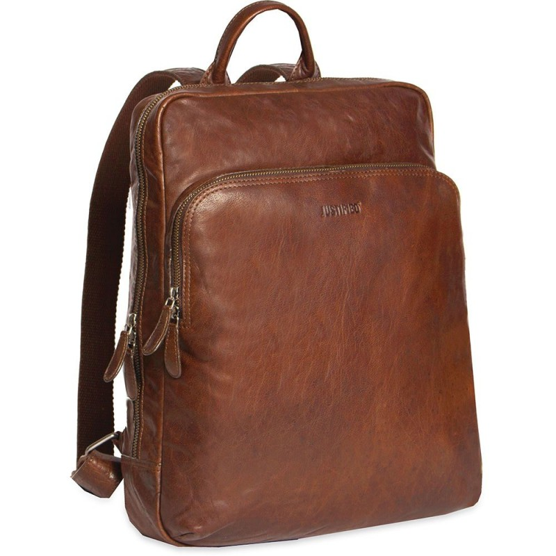 02cf64c97d7 Justified Leren Laptop Rugzak 13 inch Everest Cognac