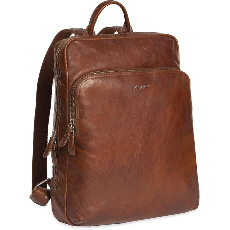 ziet er geweldig uit uk goedkope verkoop hoogwaardige sportkleding Justified Leren Laptop Rugzak 13 inch Everest Cognac