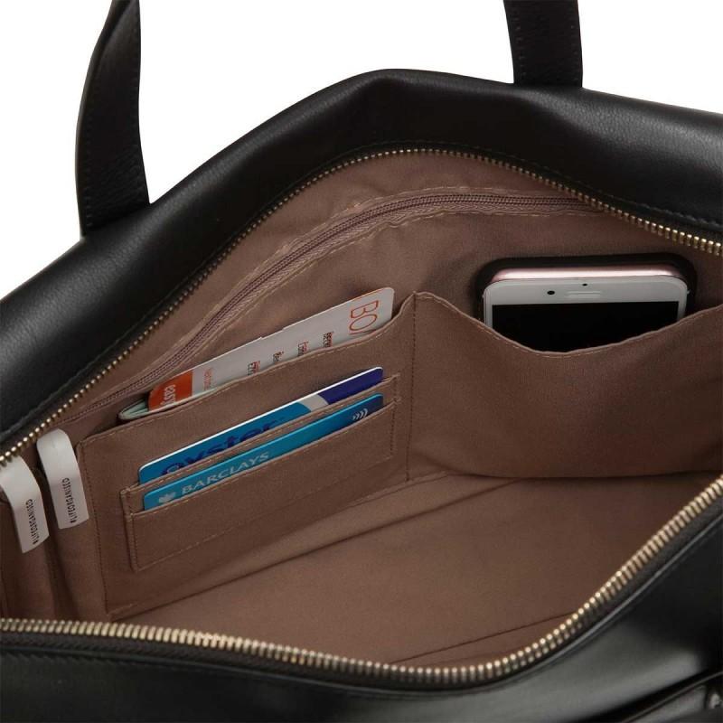 237a6913381 Knomo Audley Laptoptas Zwart 14 inch Open