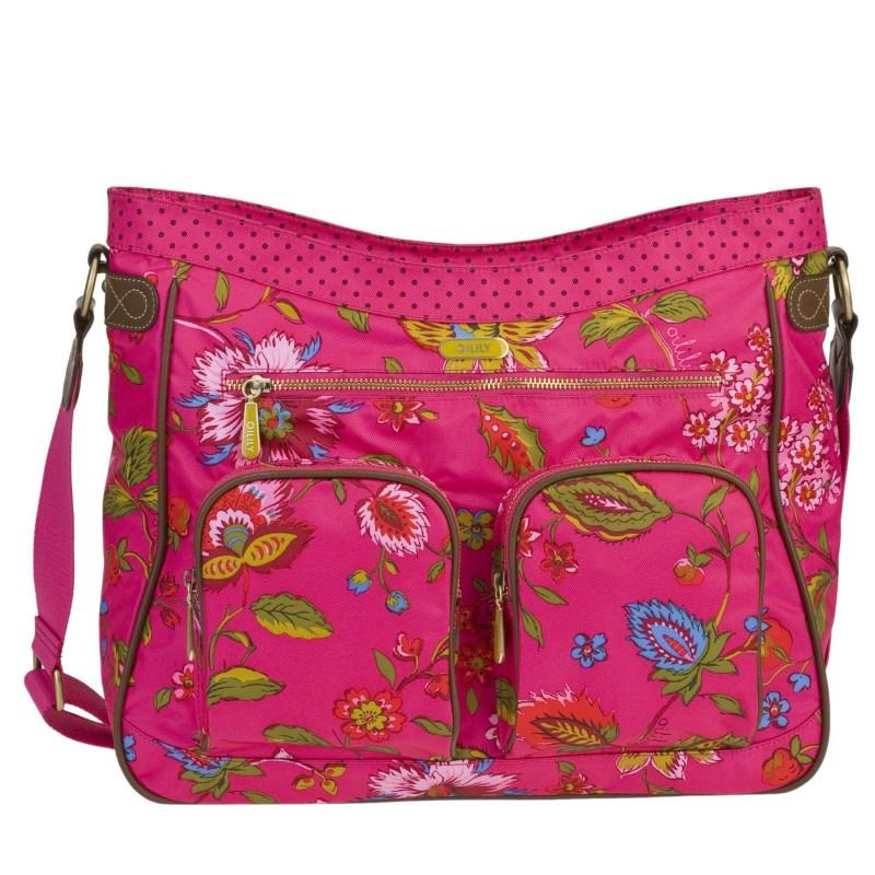 Beste Laptoptas Oilily Shoulderbag A4 Colored Dreams Pink 15.4 inch XL-48