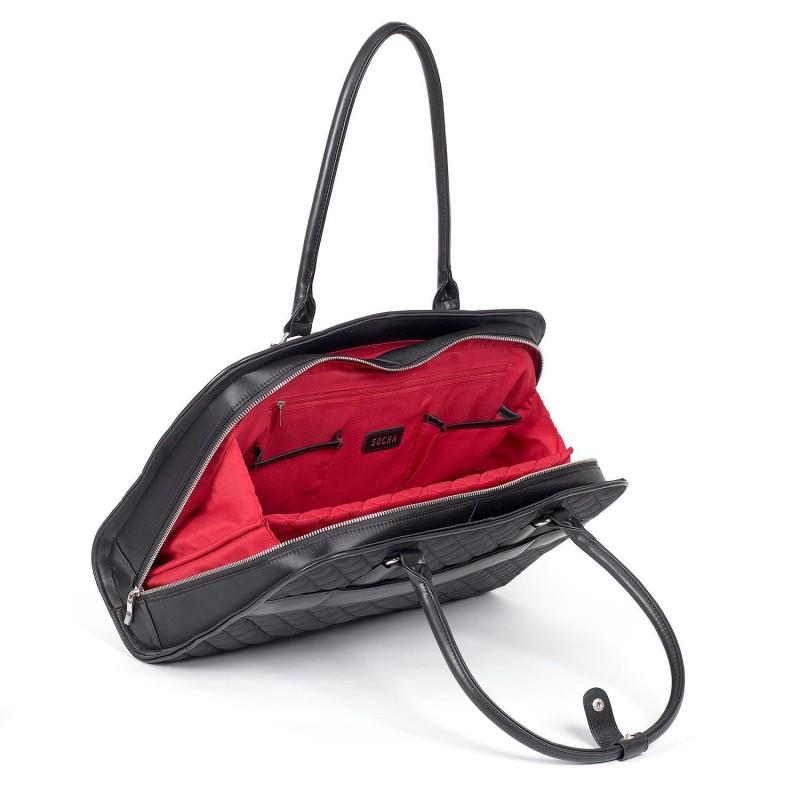 a40644c219b SOCHA Dames Laptoptas Black Diamond 15.6 inch Open